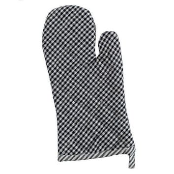 Black Chef Stripe Oven Mitt 2 Sets of 2