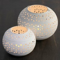 Hole Punched Tea Light Holders