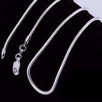 ON SALE - Silky Smooth Sterling Silver Snake Chain Necklace 20 or 22 inches