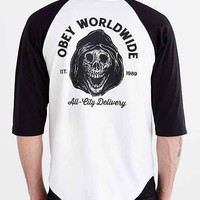 OBEY All City Delivery Raglan Tee- White
