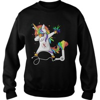 Dabbing Unicorn hairstylist barber shirt Sweatshirt Unisex