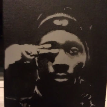 RZA Multi Layer Stencil Canvas Graffiti Art Wu Tang Hip Hop Street Art 8 x 10