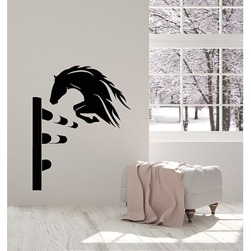 Vinyl Wall Decal Horse Stallion Equestrian Competitions Animal Stickers Mural (g787)