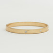 Worn Gold Bangle - Clear