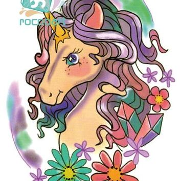 Women Large Tattoo Sticker Unicorn