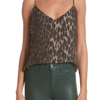 L'AGENCE Jane Leopard Print Silk Camisole | Nordstrom