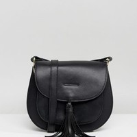 Glamorous Black Saddle Bag With Tassle Detail at asos.com