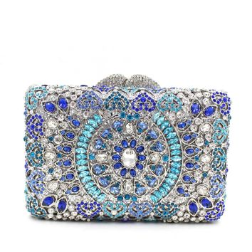 Luxury India Crystal Sparkle Bling Rhienstone Weddign Clutch