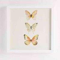 Sarah B. Martinez Butterflies #5 Framed Art- White One