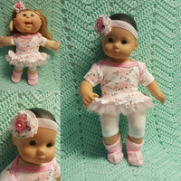 "15 inch Baby Doll ""Beautiful Roses"" doll outfit Will fit Bitty Baby® Bitty Twins®  dress shorts socks headband"