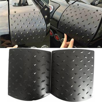 2PCS Car Sticker Body Cover black for Jeep Wrangler JK 2007-2015 ABS Body Armor Side Cowl Cover Car Accessories