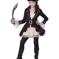 Tween High Seas Captain Pirate Costume - Spirithalloween.com