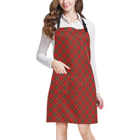 Red Tartan Plaid Pattern All Over Print Apron | ID: D2378799