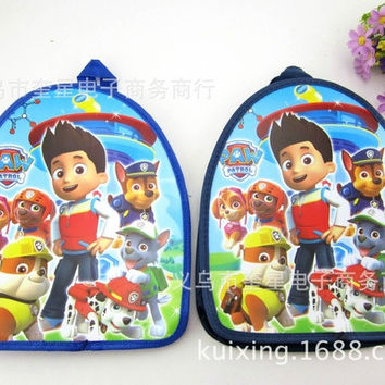 Dog Patrol Mini Children's Cartoon Schoolbag Paw Patrol Snack Bag Cute Little Backpack (Color: Multicolor) [8081691015]