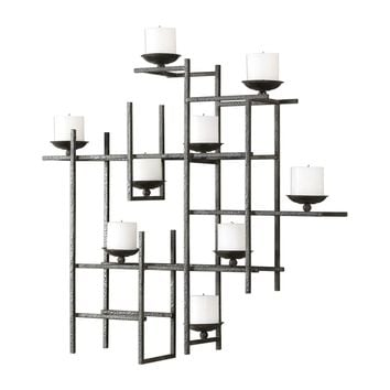 Marni Contemporary 9 Candle Iron Wall Sconce by Uttermost