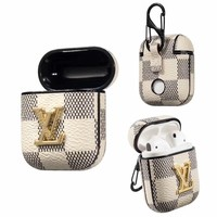 LV PENDANT DAMIER APPLE AIRPOD CASE - WHITE