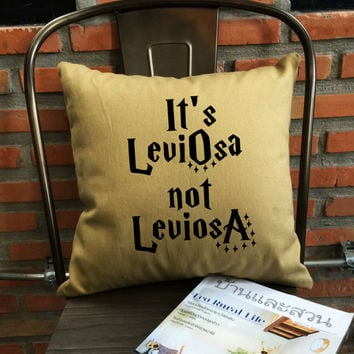 It's LeviOsa Not LeviosA Pillow cover Harry potter gift Harry potter Throw Pillow cover