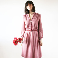 Vintage 60's preppy dress Fall dress Great vintage piece Modern dress 60 s (S/M)