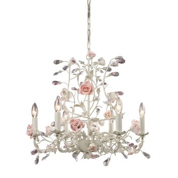 Heritage 6-Light Chandelier in Cream