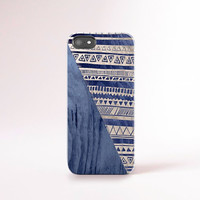 Stripe iPhone 6 Case Blue Wood Print iPhone 6 Plus Case Blue iPhone 5 Case Tribal iPhone 5S Case iPhone 4 Case Wood Print Samsung Galaxy S5