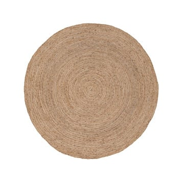 Jaipur Rugs Naturals Solid Pattern Neutral/Ivory Jute Area Rug SPI01 (Round)