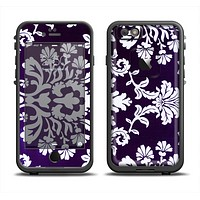 The Blue & White Delicate Pattern Apple iPhone 6 LifeProof Fre Case Skin Set