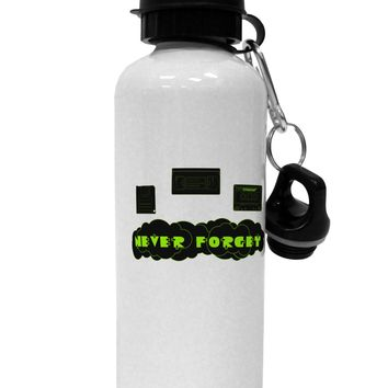Never Forget Retro 80's Funny Aluminum 600ml Water Bottle by TooLoud