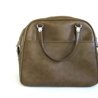 Vintage tote- olive brown Vintage American Escort carry on luggage bag