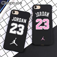Clespruce Basketball Chicago Bulls NO23 Jordan PC Cover Case For iPhone 8 8plus 7 6 6s Plus 5 5s SE Jumpman Sports Phone Cases