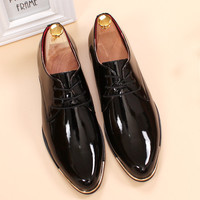 Glossy dress shoes - Patent leather loafers mens shoes - luxury italian brand