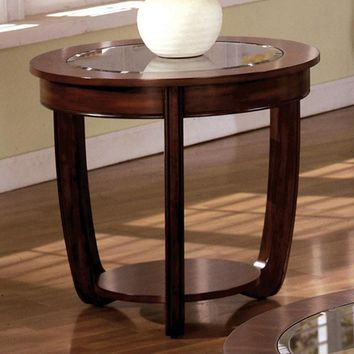 Crystal Falls Transitional End Table , Dark Cherry