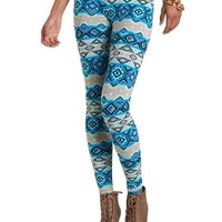 Mint Tribal Cotton Legging: Charlotte Russe
