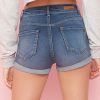 Super Soft Retro High Waist Jean Short