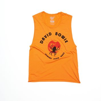 David Bowie Spiders From Mars Muscle Tee - Cheddar