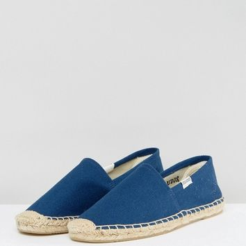 Soludos Original Canvas Dali Navy Espadrille Flat Sandals at asos.com