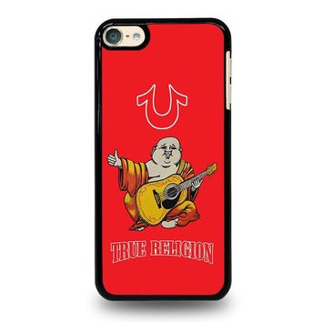 RED BIG BUDDHA TRUE RELIGION iPod Touch 4 5 6 Case Cover