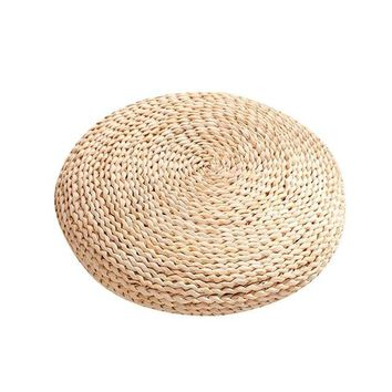 Natural Round Hip Pillow Pouf Natural Straw Round Pouf Tatami Cushion Floor Cushions Meditation Yoga Round Mat Chair Pillow