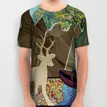 Wild Rural Animals All Over Print Shirt by Deluxephotos