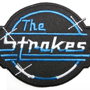 THE STROKES Iron On Embroidered Rock Patch 3.6""