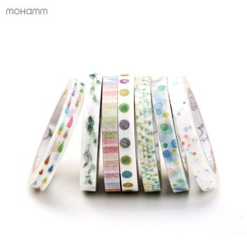 Creative Colorful Flower Plants Decorative Adhesive Tape Masking Washi Tape DIY Scrapbooking Sticker Label School Office Supply