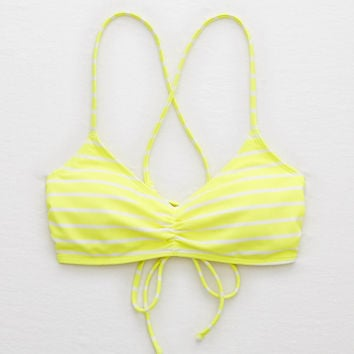 Aerie Scoop Bikini Top , Lemon Lime Infusion