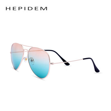 HEPIDEM 2017 OK Men Vintage Aviador Sunglass Sun Glasses Women Brand Designer Aviation Mirror Lens Retro Ray Sunglasses H3026