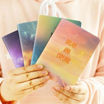 12pcs/lot 140*105MM Fantastic Galaxy Star Sky A6 Notebook Diary Book Exercise Composition Notepad Escolar Papelaria Gift books