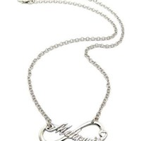 "Mahomie Fan Infinite MAHOMIE(TM) Pedant w/18"" Link Chain Necklace Small Silver Color"
