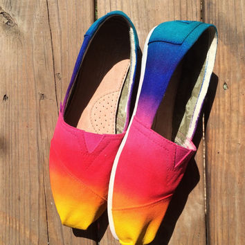 Rainbow Tie Dye Toms Shoes