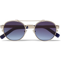 Simon Miller - + MOSCOT Leather-Trimmed Round-Frame Sunglasses | MR PORTER