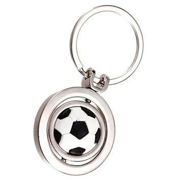Rotating Soccer Keychain