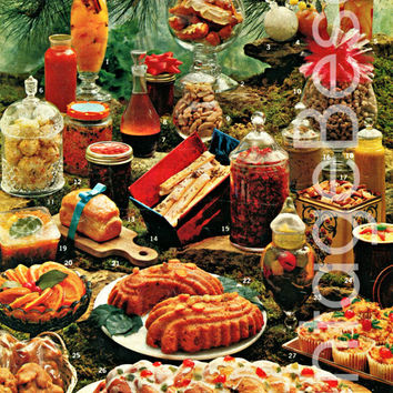CHRISTMAS 50 GIFTS from you Kitchen 1960s Vintage RECIPES Pdf Recipes Holiday Recipes Carmel Pralines Stollen Pate Dressings Nuts Doughnuts