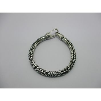 AB-1074-S-7 Sterling Silver Bracelet With Plain Silver