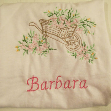 Girls Tee Shirt with Embroidery and Name--#349